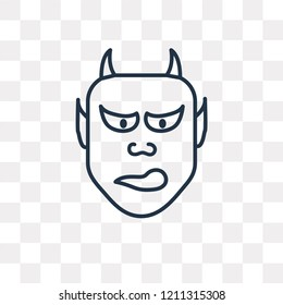Hannya vector outline icon isolated on transparent background, high quality linear Hannya transparency concept can be used web and mobile