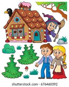 Hansel and Gretel theme set 1 - eps10 vector illustration.