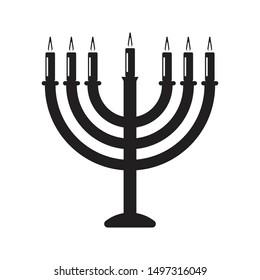 hanukkah icon black and isolated vector illustration