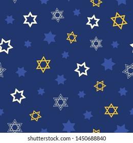 Hanukkah seamless vector pattern.  This pattern uses the Star of David.