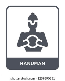 hanuman icon vector on white background, hanuman trendy filled icons from India and holi collection, hanuman simple element illustration