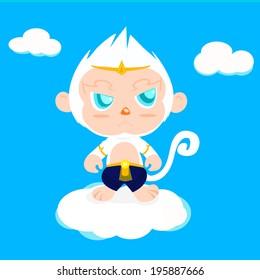 Hanuman magic monkey cartoon
