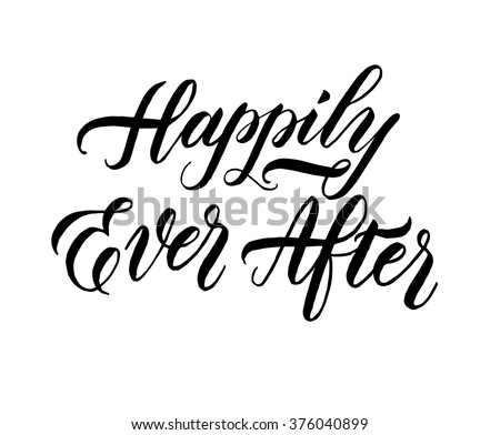 happily ever after hand drawn element のベクター画像素材