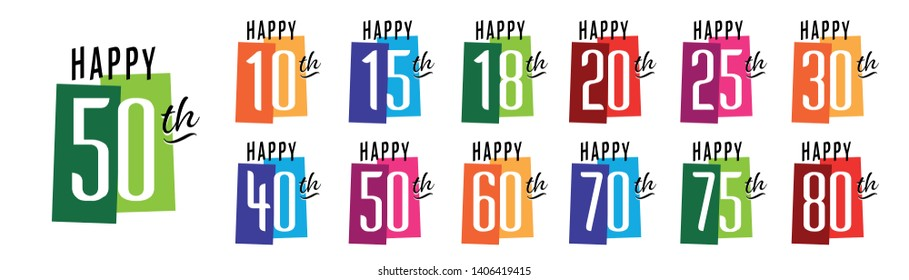 Happy 10th Birthday to Happy 80th Birthday