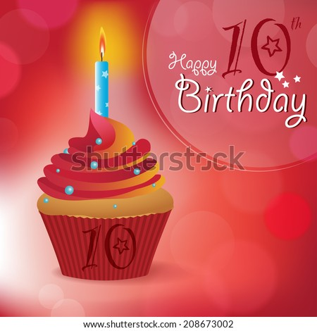 Happy 10th Birthday Greeting Invitation Message