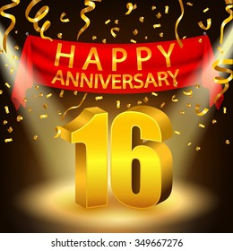 16th Anniversary Images Stock Photos Vectors Shutterstock