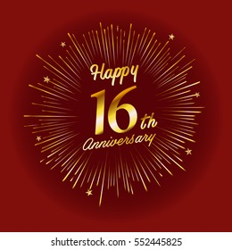 16th Anniversary Images Stock Photos Amp Vectors Shutterstock