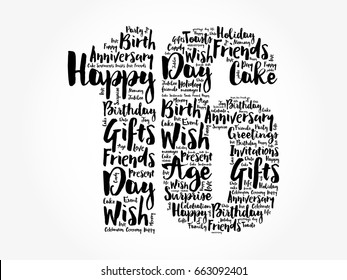 Happy 16th birthday word cloud collage concept