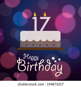 Incredible 17 Years Old Birthday Cake Images Stock Photos Vectors Personalised Birthday Cards Veneteletsinfo