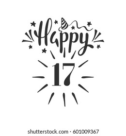 17th Birthday Images Stock Photos Vectors Shutterstock