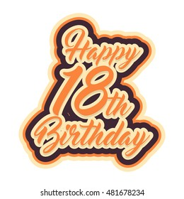 Happy 18th birthday lettering banner