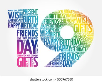 19th Birthday Images, Stock Photos & Vectors | Shutterstock