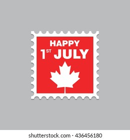 Happy 1st July Stamp design