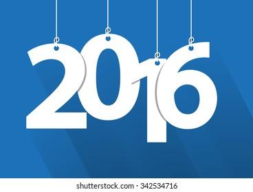 Happy 2016 new year word