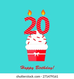 20th Birthday Images, Stock Photos & Vectors   Shutterstock