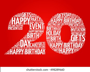 20th Birthday Images Stock Photos Vectors Shutterstock