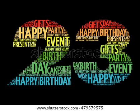 Happy 23rd birthday word cloud collage stock vector royalty free happy 23rd birthday word cloud collage concept m4hsunfo