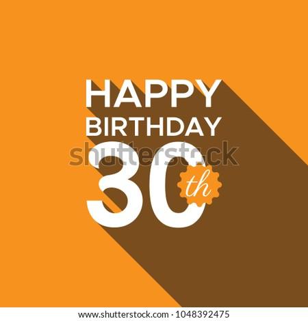 Happy 30th Birthday Stock Vektorgrafik Lizenzfrei 1048392475