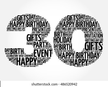 30th birthday invitation images stock photos vectors shutterstock happy 30th birthday word cloud collage concept filmwisefo