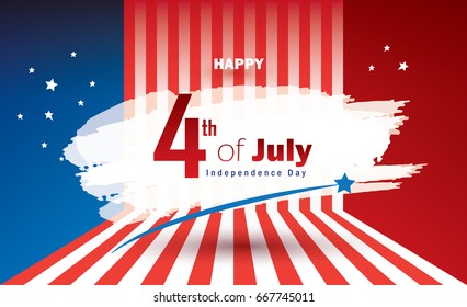 4th july independence day holiday background stock vector royalty