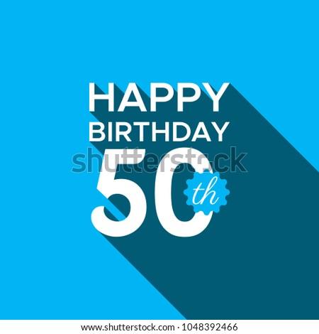 Happy 50th Birthday Stock Vector Royalty Free 1048392466
