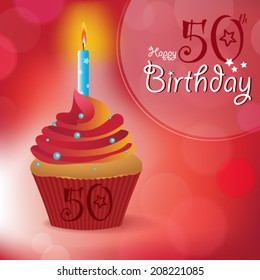 Happy 50th Birthday Greeting Invitation Message