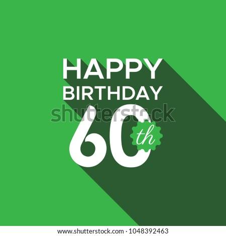 Happy 60th Birthday Stock Vector Royalty Free 1048392463