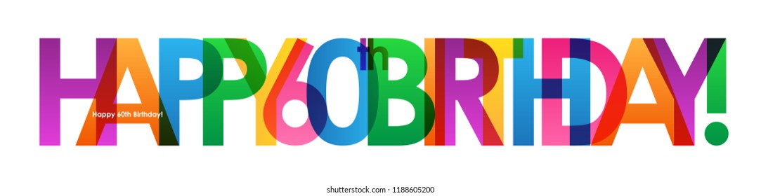 HAPPY 60th BIRTHDAY Colorful Letters Banner