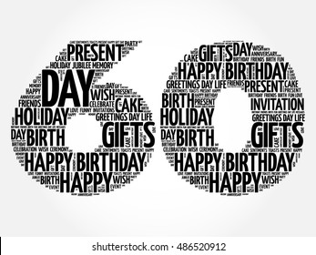 60th birthday images stock photos vectors shutterstock happy 60th birthday word cloud collage concept filmwisefo
