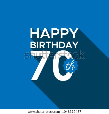 Happy 70th Birthday Stock Vector Royalty Free 1048392457