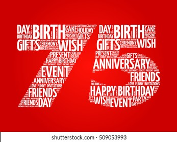 75th Birthday Images Stock Photos Vectors Shutterstock