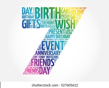7th Birthday Images Stock Photos Vectors Shutterstock