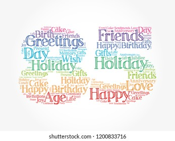 85th birthday images stock photos vectors shutterstock happy 85th birthday word cloud collage concept m4hsunfo