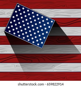 Happy American Independence Day graphic design, Vector illustration