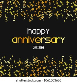 Happy aniversary celeration design with creative design vector