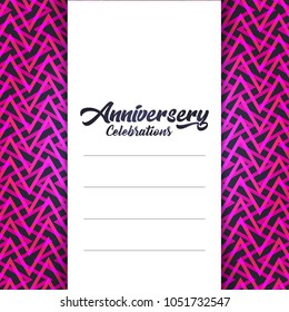 Happy Aniversary files with a elegent design vector
