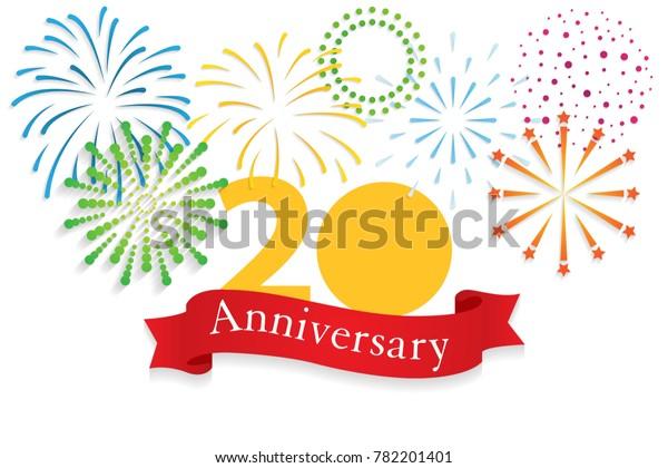 Image Vectorielle De Stock De Happy Anniversary 20 Year