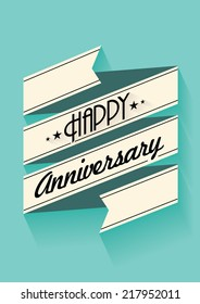 happy anniversary banner template vector/illustration