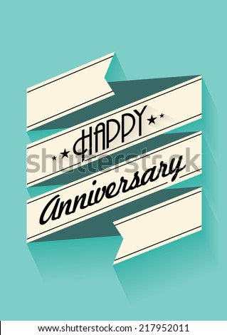 happy anniversary banner template vectorillustration stock vector