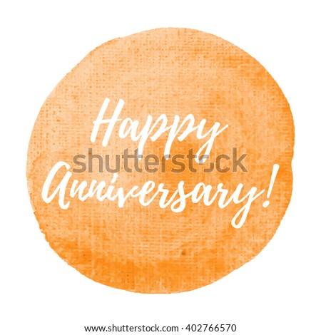 Happy Anniversary Card Celebration Poster Logo Stock Vector (Royalty ...