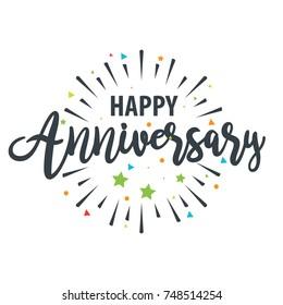 Happy Anniversary design template