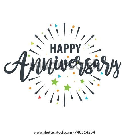 happy anniversary design template のベクター画像素材 ロイヤリティ
