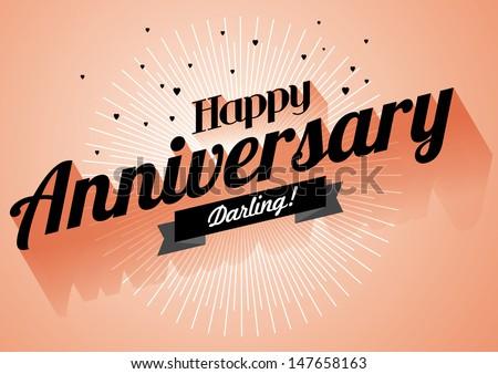 happy anniversary greeting template vectorillustration のベクター