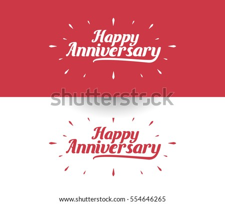 happy anniversary logo design can be のベクター画像素材