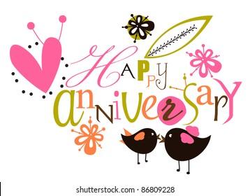 Happy anniversary script card