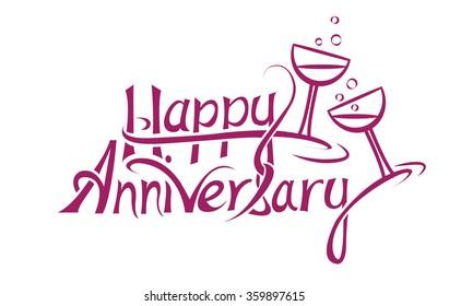 Happy Anniversary Words Images, Stock Photos & Vectors | Shutterstock