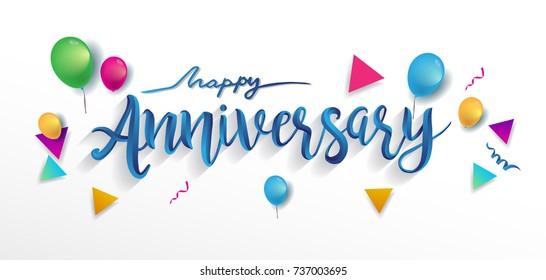 happy anniversary 画像 写真素材 ベクター画像 shutterstock