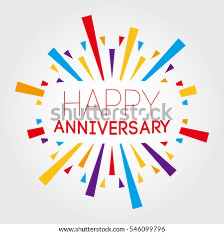 happy anniversary vector illustration poster banner stock vector