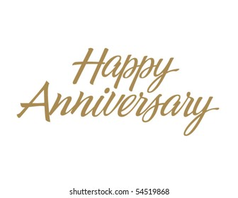 Happy Anniversary Vector Lettering