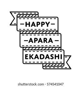 Happy Apara Ekadashi emblem isolated vector illustration on white background. 22 may indian religious holiday event label, greeting card decoration graphic element